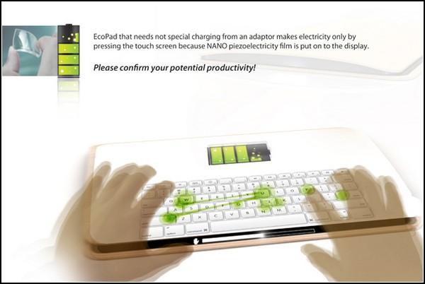 Ecopad – планшет, который заряжается от ваших прикосновений