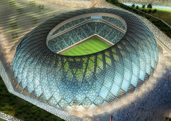 Солнечный стадион в Катаре