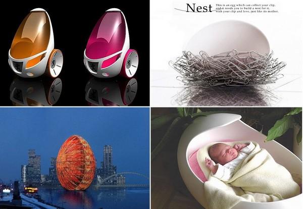 Дизайн в яичном стиле