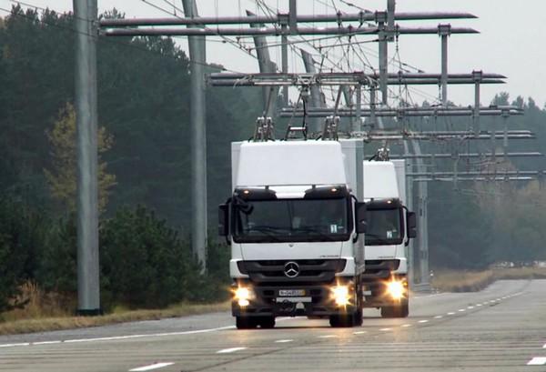 eHighway – грузовые фуры, более похожие на трамваи