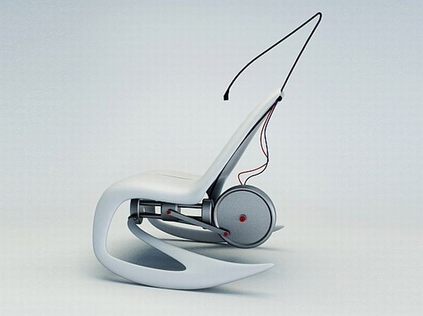 Кресло-качалка Rocking Shell Chair