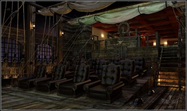Домашний кинотеатр в стиле «Пиратов Карибского моря»