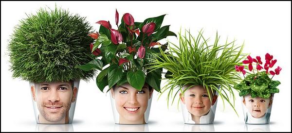 Facepod – цветочные горшки на всю семью