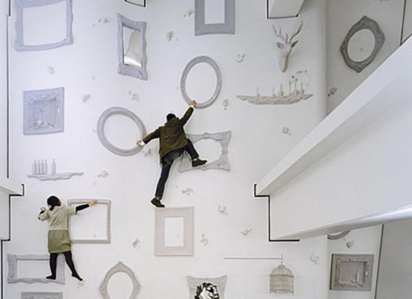 Стена для скалолазания в стиле Алисы