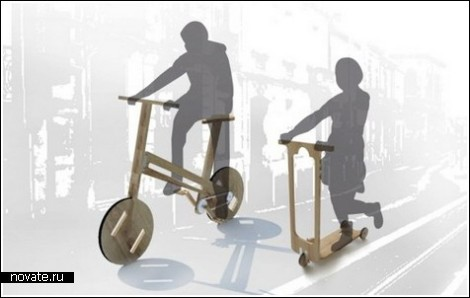 Велосипед и самокат для современных Самоделкиных