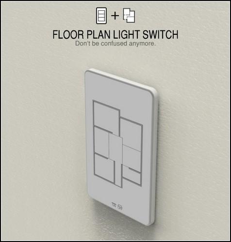 Универсальный выключатель Floor Plan Light