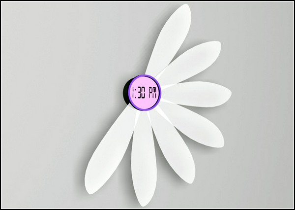 Настенные цветочные часы