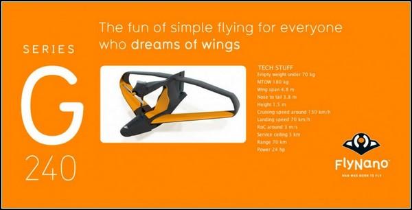 Самолет FlyNano весом в 70 килограммов