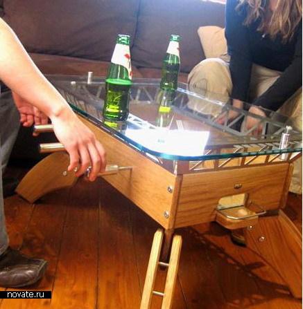 Настольный футбол на кофейном столике