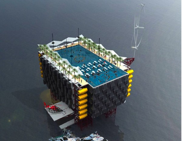 Курорт на нефтяной вышке