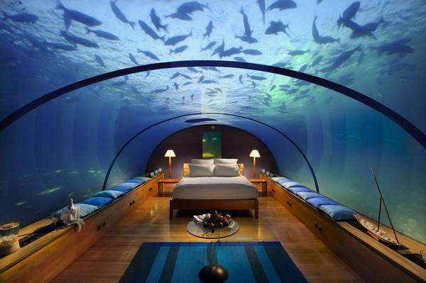 Подводный ресторан и отель на Мальдивах