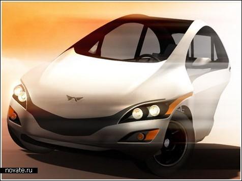 Трехколесный электромобиль