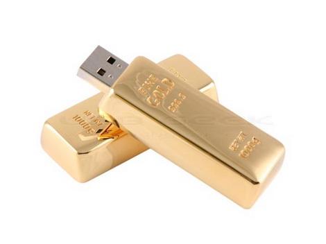 Флешка в виде слитка золота