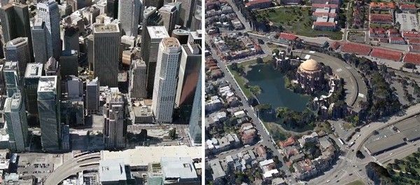Трехмерные карты в Google Maps
