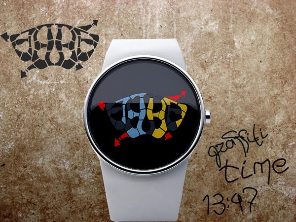 Graffiti Watch – часы в стиле граффити от Энди Куровца (Andy Kurovets)