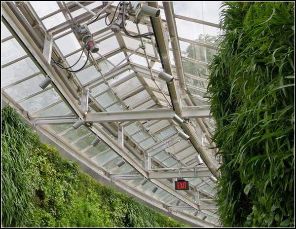 Зеленая стена – украшение администрации парка Longwood Gardens