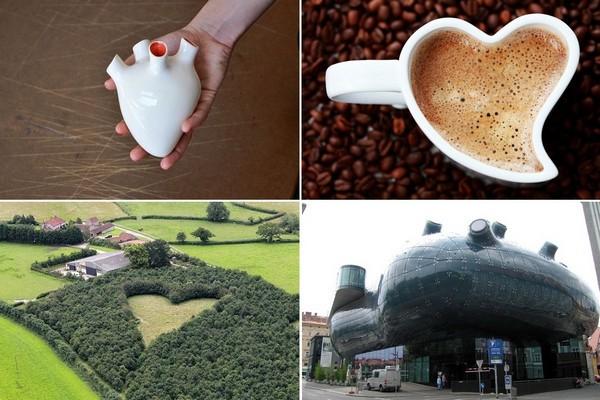 Необычные примеры дизайна в виде сердца
