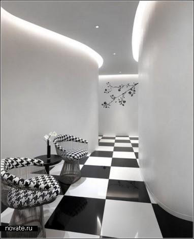 Монохромный отель в Сингапуре