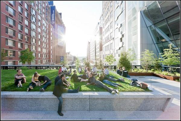 Новый парк вместо старой железной дороги в Нью-Йорке