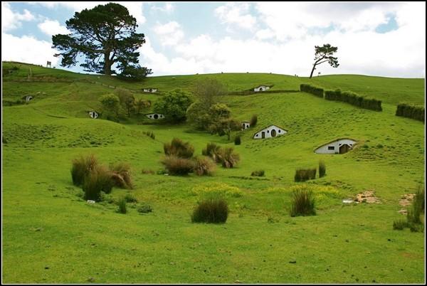 Городок хоббитов для овец