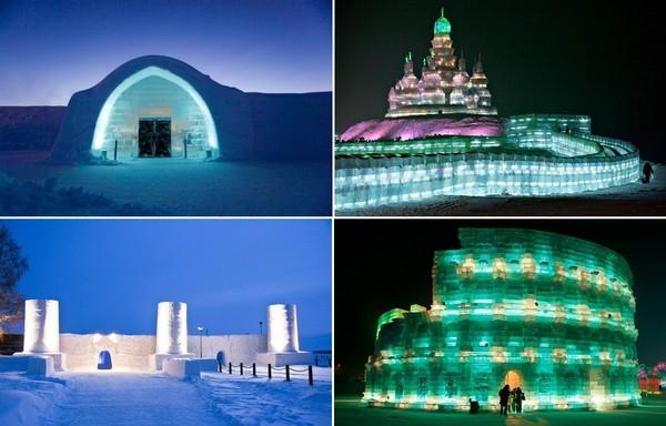 Самые необычные в мире здания изо льда