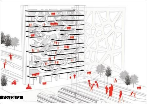Перепончатый дом. Архитектура, вдохновленная стрекозой