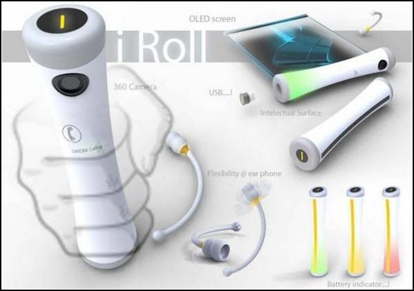 Телефон-трубочка i Roll: новая форма для мобильного телефона