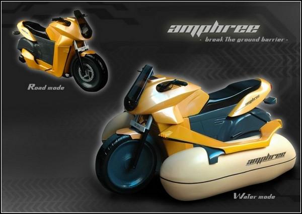 Мотоцикл-амфибия на воздушных подушках