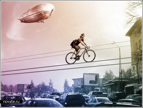 Монорельс для велосипедистов