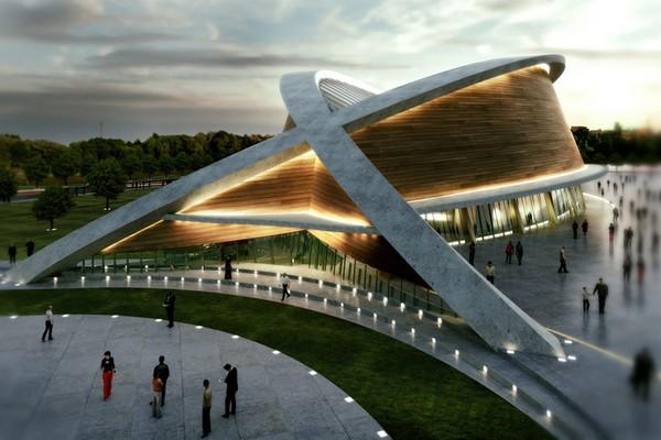 Олимпийский бассейн в Иракском Курдистане от DOS Architects