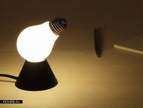 Лампа на боку