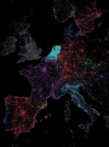 Занимательная инфографика: языковые сообщества Twitter