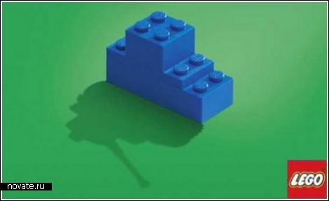 Необычная реклама LEGO