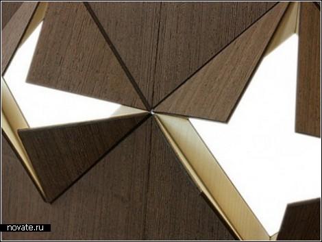 Лампа оригами