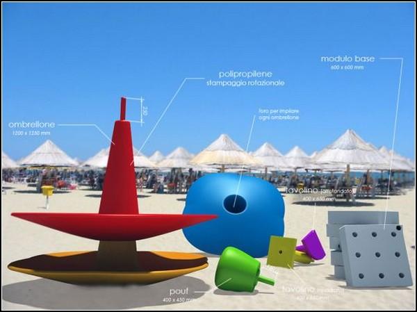 Пляжная мебель Little.Tack: смесь LEGO и IKEA