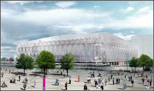 Временная баскетбольная арена для Лондонской Олимпиады