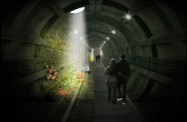 Тоннель с грибами: лондонский вариант High Line