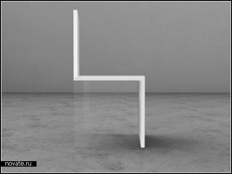 Магический стул с оптическим обманом