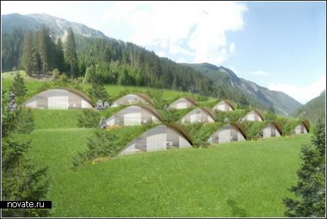 Городок хоббитов в итальянских Альпах