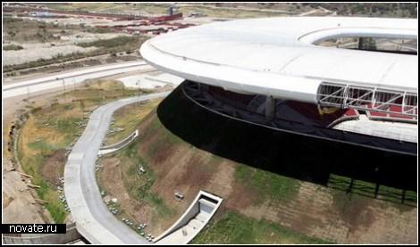 Зеленый вулкан: стадион в Мексике