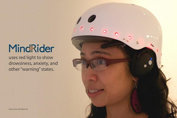 MindRider — шлем-светофор для велосипедистов