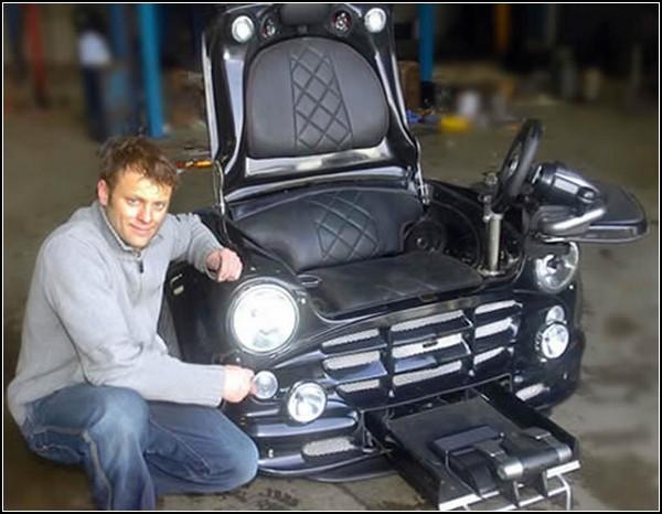 Кресло для любителей автомобиля Mini Cooper и видеоигр