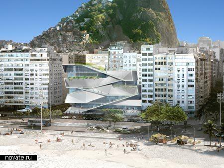 Музей изображений и видео на берегу океана