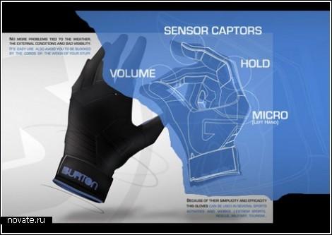 Зимние перчатки с пультом дистанционного управления