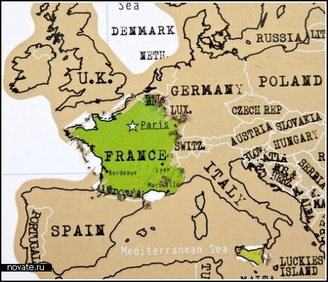 Карта путешествий для тех, у кого есть деньги