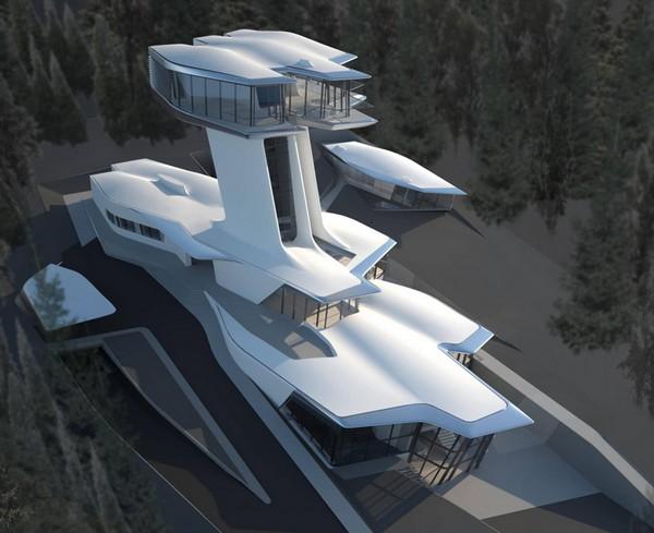 Дом-НЛО Capital Hill Residence для Наоми Кемпбелл и Владислава Доронина от Захи Хадид