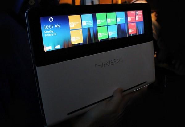 Nikiski – революционный ноутбук с прозрачным тачпадом
