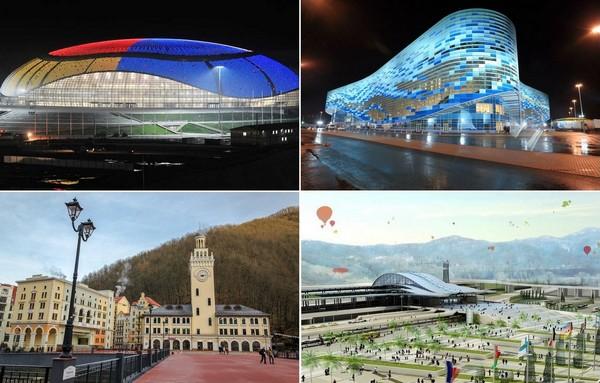 Знаковые объекты Зимних Олимпийских игр в Сочи
