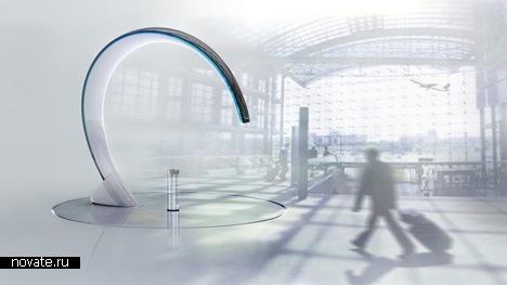 Открытая курилка для аэропортов