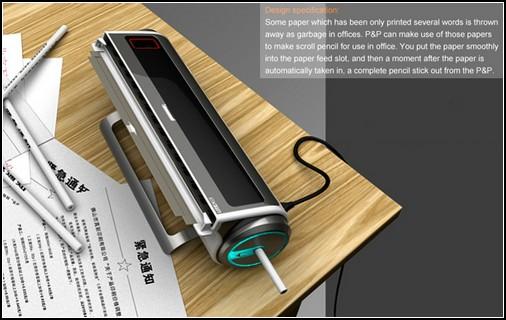 Принтер, работающий от простых карандашей